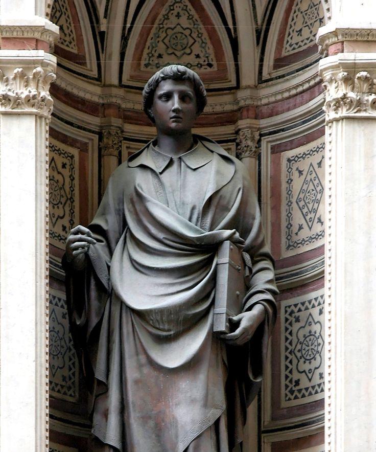 Lorenzo Ghiberti, Santo Stefano, 1427-1428, bronzo, Chiesa di Orsanmichele (Firenze), Museo di Orsanmichele, Firenze