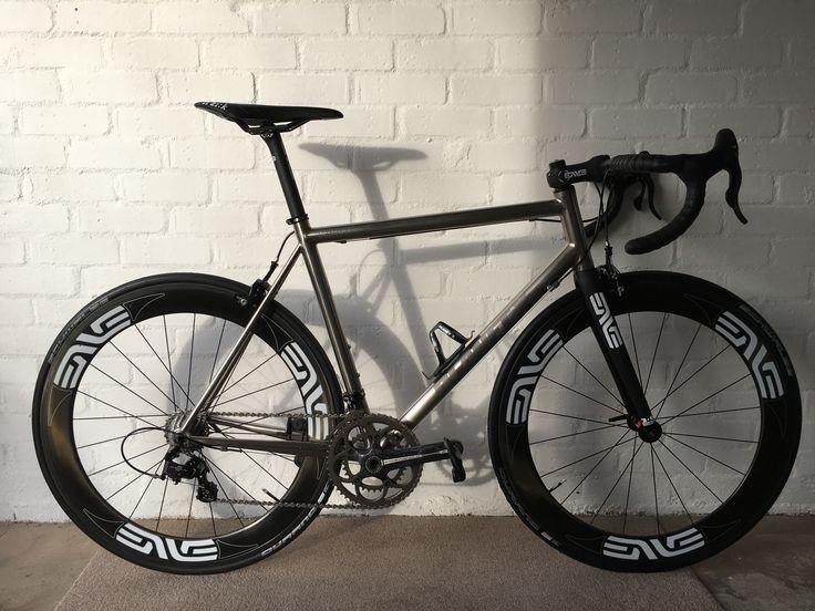 Titanium Road Bike with ENVE wheels, forks, bars, stem & seat post