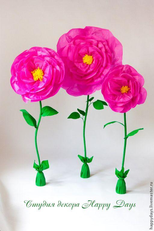 Большие цветы из бумаги - фуксия,бумажные цветы,бумажные цветочки,бумажные розы