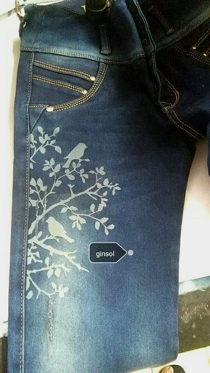 Jeanología nano, grabado láser sobre jean.
