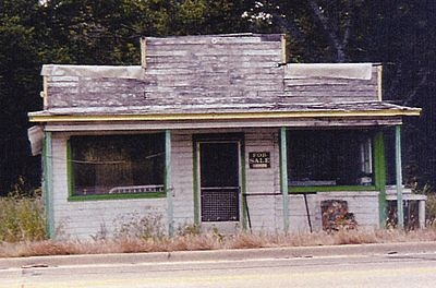 The abandoned dance hall where Deputy Eugene C. Moore was shot and killed by the Barrow Gang, Stringtown, OK