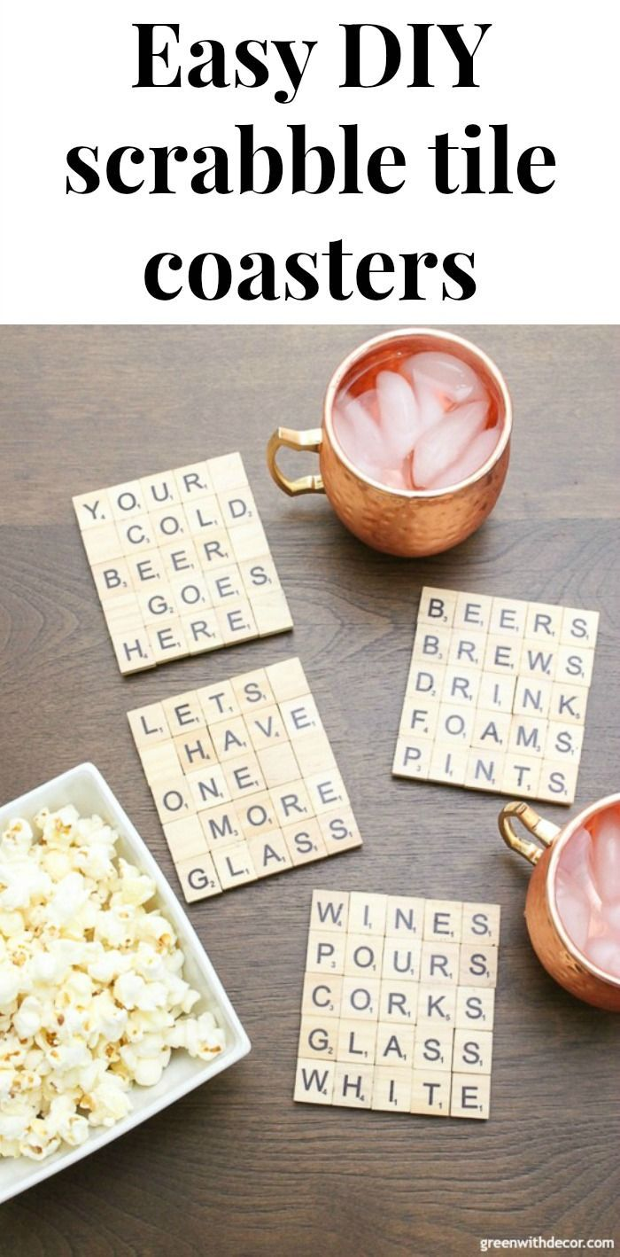 these scrabble tile diy coasters are such a cute idea these would make great christmas gifts or hostess gifts love how you can customize them for whatever
