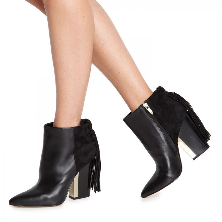Mariel fringed suede and leather ankle boots, Boots, Harvey Nichols Store View