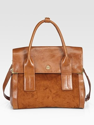 I ordinarily don't care for Tory Burch, but do you know how hard it is to find silver hardware on a brown bag? Do you know how hard it is to find silver hardware on ANY bag?!