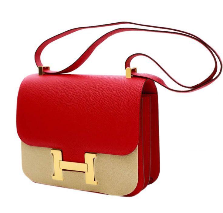 Hermes Constance 24 Bag Rouge Casaque Epsom Purses Handbags