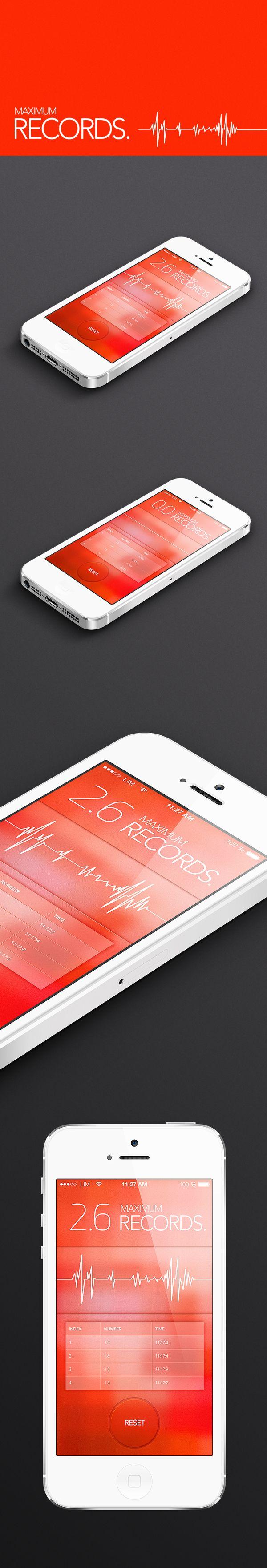 Maximum Records app by Hyelim Choi, via Behance