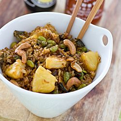 only with chicken brown rice bowl with lemongrass tofu and cashews ...