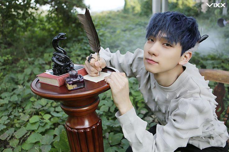 VIXX Hyuk with blue hair in The Closer