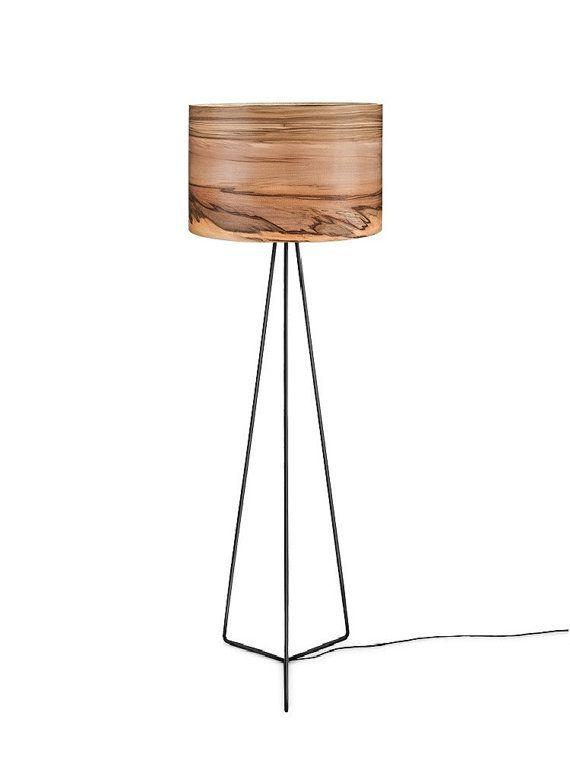 Wooden Floor Lamp Natural Wood Lamps Modern Veneer by Sponndesign