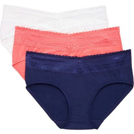 7eca4ed88ad5 Blissful Benefits by Warner's No Muffin Top Hipster with Lace Panties 3PK,  Orange