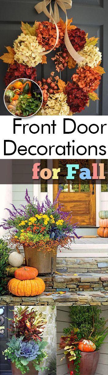 Front Door Decorations for Fall - My List of Lists