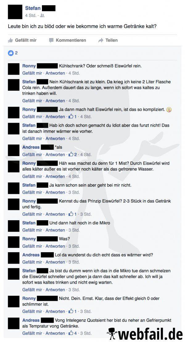 Kalt, kälter, am dümmsten - Facebook-Fail des Tages 14.10.2016 | Webfail - Fail Bilder und Fail Videos