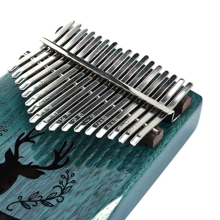 17 key thumb piano include tuning kit hammer and study