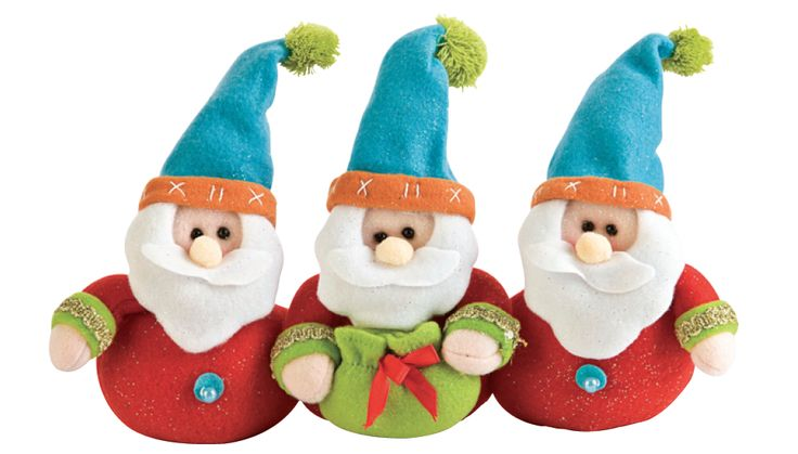 Adorno Santas #Navidad #Decoración #Hogar #Colores