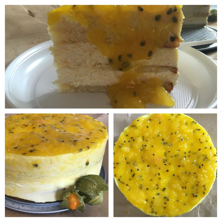 """Торт """"Манговый рай"""". Бисквитный торт с кремом из маскорпоне, манговым суфле и муссом и желе манго-маракуйя..."""