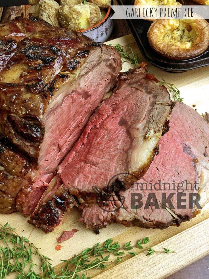 """What could be better than prime rib infused with an awesome garlicky flavor? Prime Rib: King Of Roasts This cut is called the """"King of Roasts"""" for several reasons. It's juicy and tender plus it makes a great presentation. It's also rather costly compared to other cuts and for that reason, serving it is pretty...Read More »"""