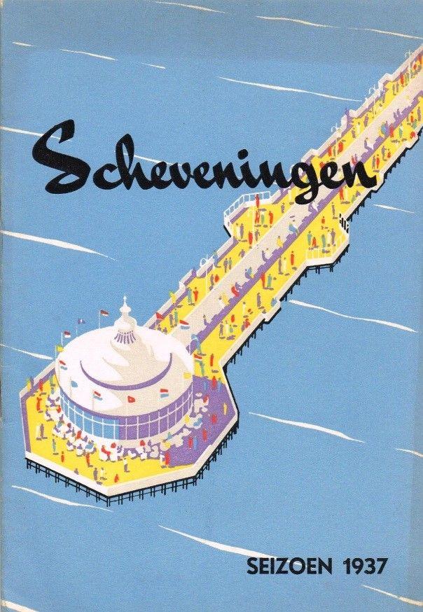 1937 Scheveningen (Holland) travel poster