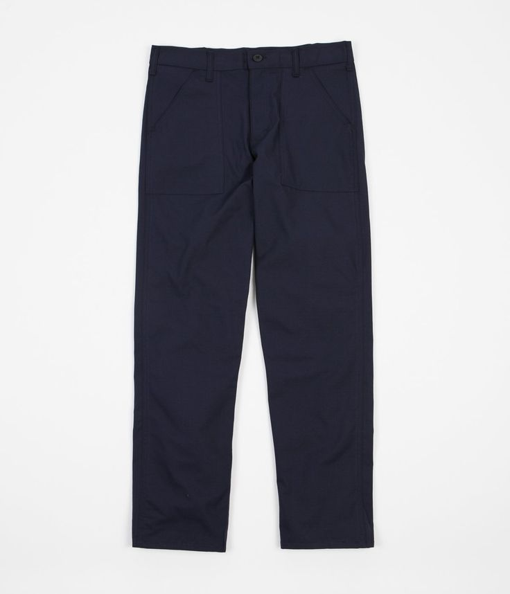 Stan Ray Slim Fit 4 Pocket Fatigue Trousers - Navy Rip Stop