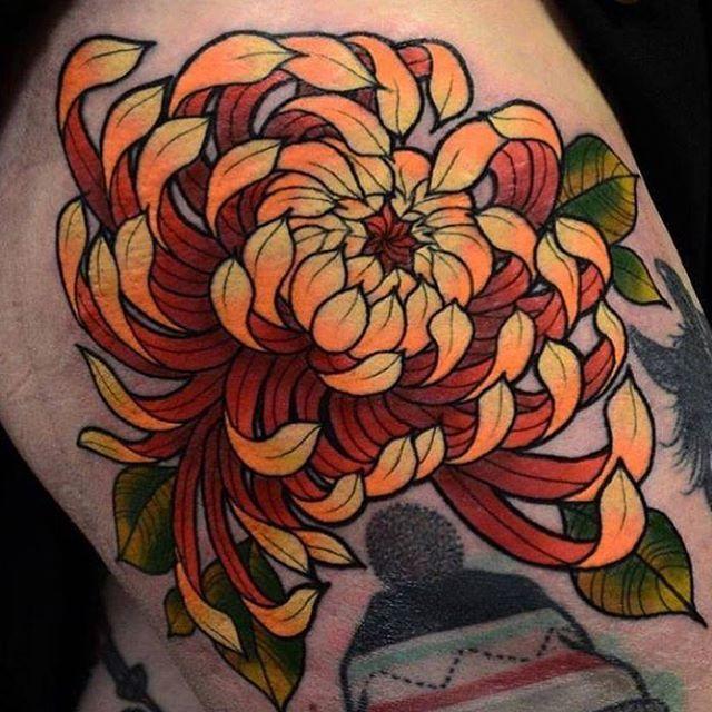 "70 Likes, 1 Comments - Inkluded ✌️ (@inkludedtattoo) on Instagram: ""Stunning #chrysanthemum tattoo by Daryl Watson @darylwatsontattoo @rocknrolltattoodundee DUNDEE,…"""