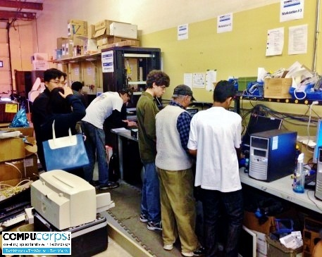 Another hard working Saturday morning at CompuCorps for our TechYouth program's kids!