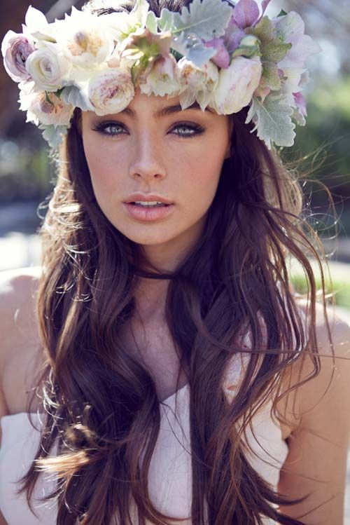 20 Wedding Hair Ideas with Flowers // Hair by Fabulous Hair Up, Makeup by Amy Chan Hair & Makeup Artistry, Photography by 35mm Fashion Photography, Flower Crown by Francis Floristry