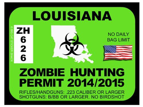 17 best images about zombie hunting permits on pinterest for La fishing license