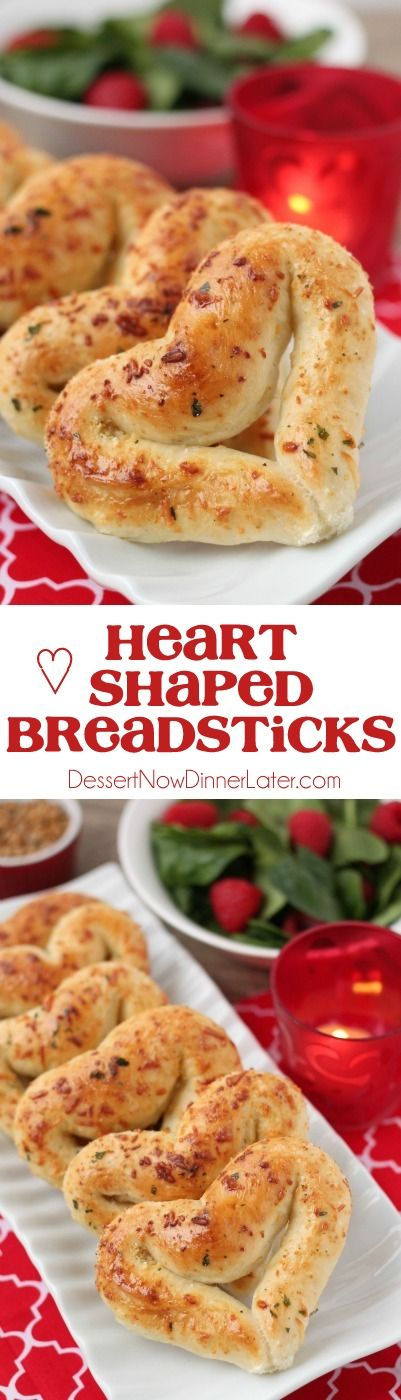 Make Valentine's Day fun for the whole family with these easy, 3-ingredient heart shaped breadsticks!