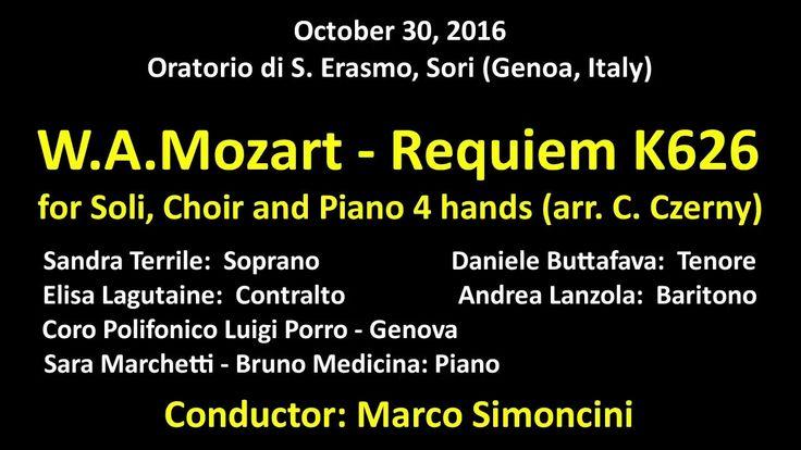 W.A. Mozart - Requiem K626 for Soli, Choir and Piano 4 hands