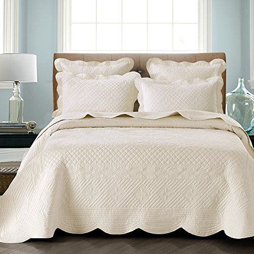 sage garden luxury pure cotton quilt by calla angel ivory king size calla angel