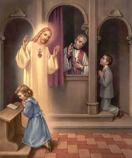 The Sacrament of Penance.  It is Christ who forgives our sins, not the priest in his own person.  The priest is only the agent.