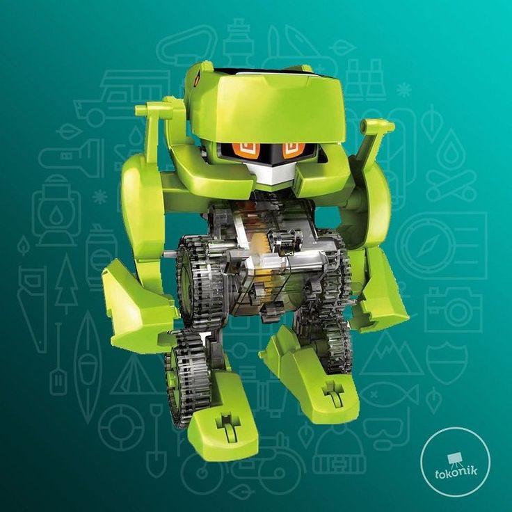 Mainan 4 in 1 Transforming Solar Robot Science and Education Tokonik