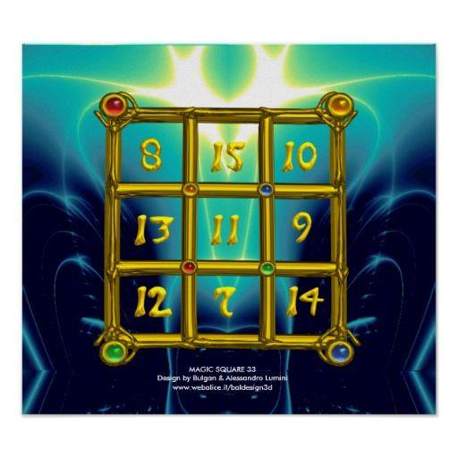 MAGIC SQUARE 33 ,Blue Turquase Poster
