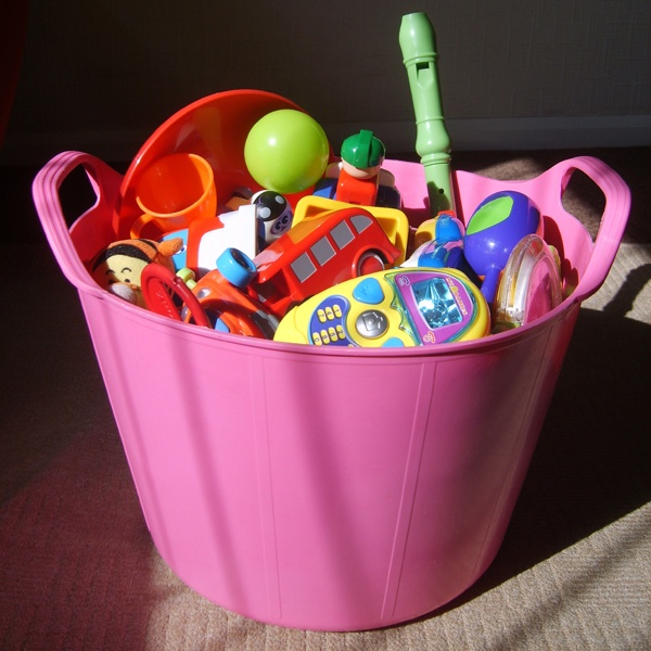 Put all your toys in a Rainbow Trug