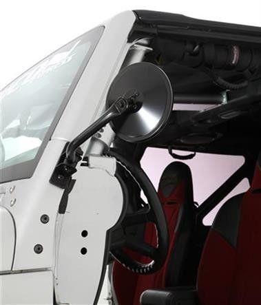 Smittybilt Quick Release Trail Side Mirrors | 97-16 Jeep Wrangler – TrailTec 4x4