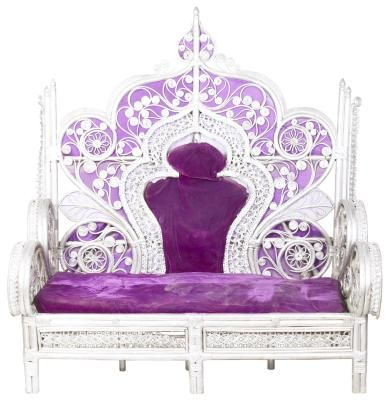 DIY Throne Chairs - nice double-throne style and simplified shape.
