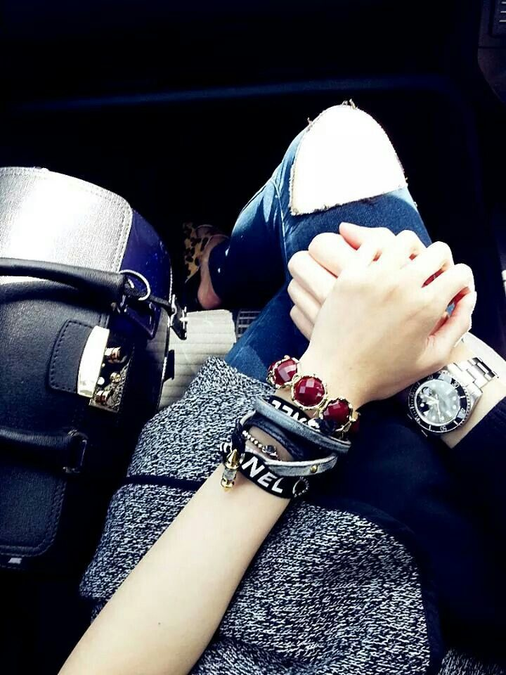 Suprice trip:) accessories. Chanel accessories. Leather bracelet. Furla.