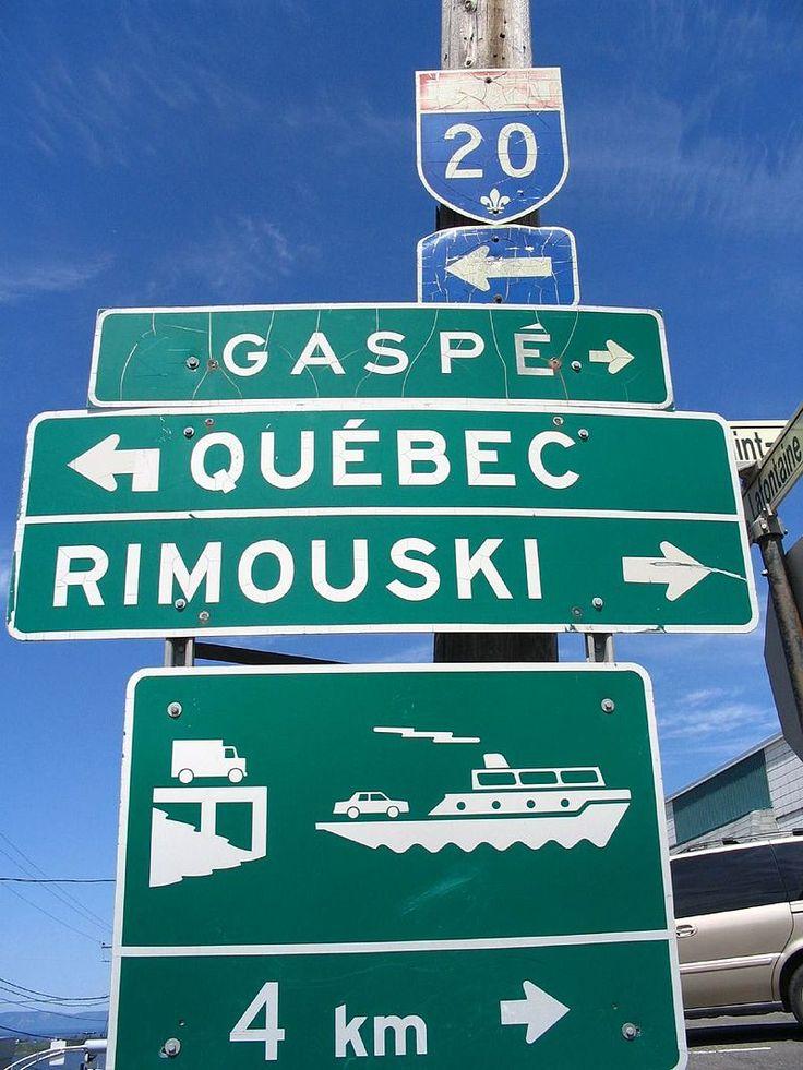 Panneau quebec gaspe - Gaspésie — Wikipédia