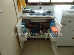 Edem Marceneiro: Armário para Tanque de Lavar Roupas em Inox