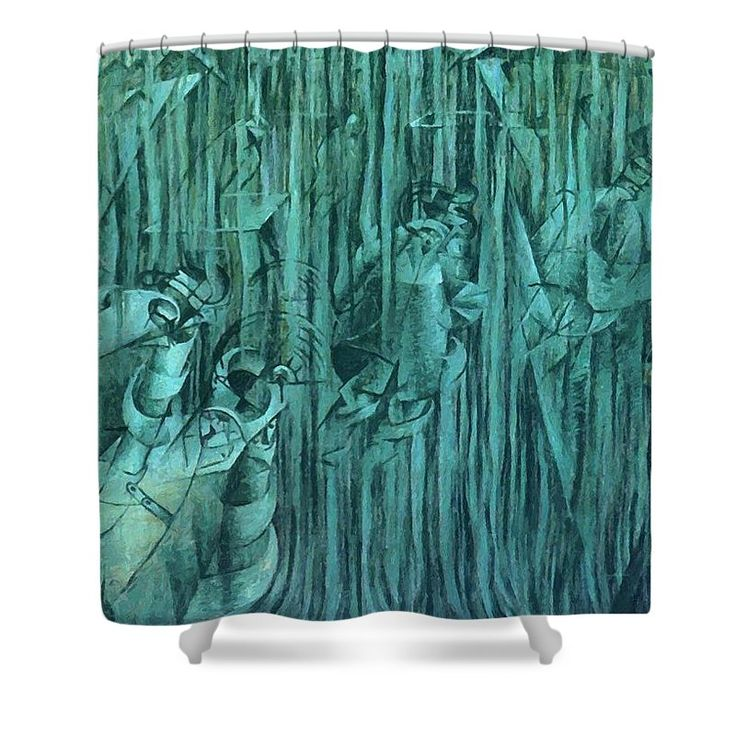 States Shower Curtain featuring the painting States Of Mind IIi Those Who Stay 1911 by Boccioni Umberto