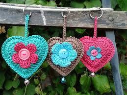 llaveros corazon tejidos a crochet - Buscar con Google