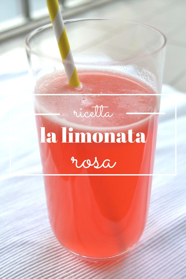 limonata rosa - pink lemonade