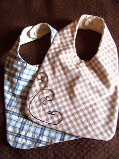 Amandille: Tuto couture : bavoirs pour bébés simples à réaliser (patron gratuit)