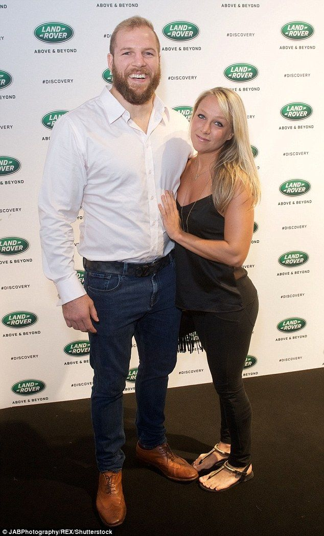 In love: Chloe Madeley, 29, looked absolutely radiant as she arrived on the arm of her other half James Haskell for the action packed Land Rover New Discovery unveiling in London on Wednesday