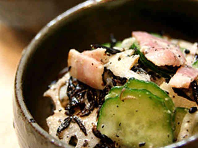 れんこん・ひじきの黒ごまサラダ和えの画像