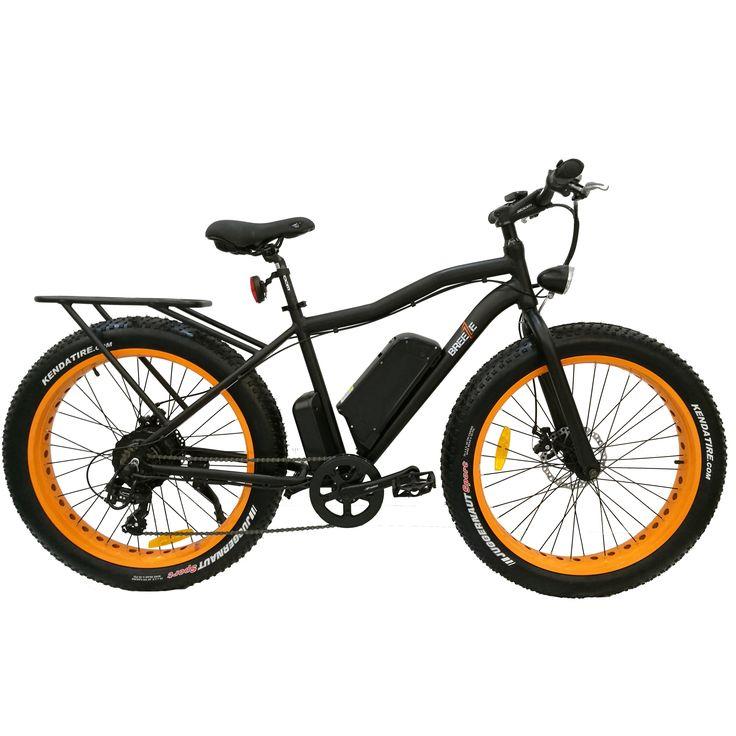 Breeze Fat Tire Electric Mountain Bike - 500W, 48V Powerful bike