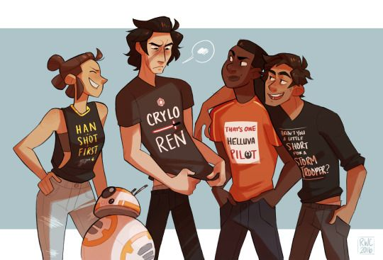 reb-chan: A while back an anon requested I draw Kylo in a Star Wars shirt so…I'm just gonna…leave this here.