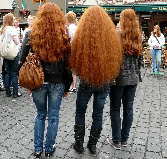 Participants of Redhead Day, Breda by Eddy Van 3000