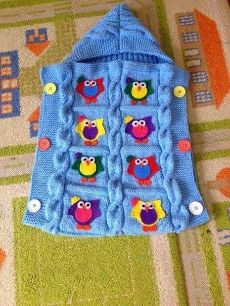 kapşonlu kundak şeklimde bebek battaniyesi
