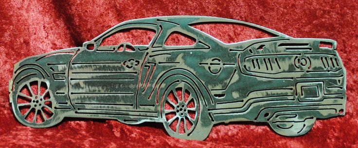 "2011 Ford Mustang, California Special 12"", Ford Mustang, Mustang Metal Art, Wall Art, Home Decor, Car Art, Man Cave, Gift for Him, Gift by CassteenIronworks on Etsy"