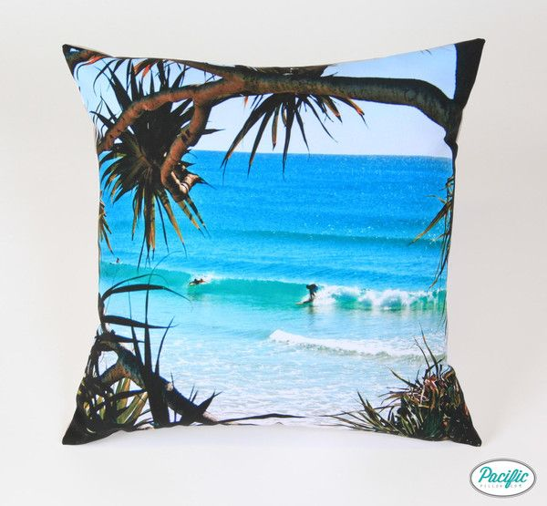 This cushion features Greenmount Beach on the Southern Gold Coast printed on high quality non fade material
